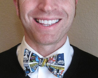 Superman Comic Strip Bow Tie