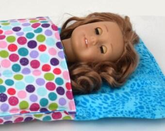 18 inch Doll Sleeping Bag fits American Girl Doll  18 inch doll bedding