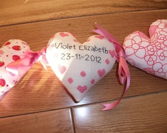 personalised fabric heart garland/banner