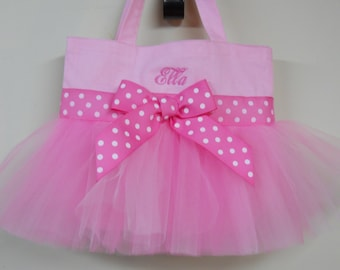 Princess party gift. Toddler tote bag, tutu tote bag, Ballet bag, Embroidered Dance Bag, Naptime 21, Personalized MINI Ballet Bag  MTB849 BP