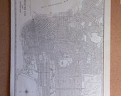 vintage 1941 - black and white map of San Fransisco
