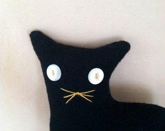Black Wool Cat Doll