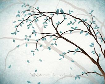 Tree Branch Wall Art bird wall art | etsy