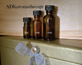 Aromatherapy Supply. Empty Glass Amber Bottle. 5 ML or 15 ML.
