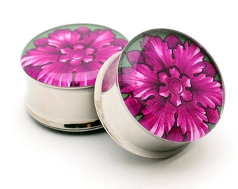 Filigree STYLE 2D Picture Plugs gauges - 16g, 14g, 12g, 10g, 8g, 6g, 4g, 2g, 0g, 00g, 7/16, 1/2, 9/16, 5/8, 3/4, 7/8, 1 inch