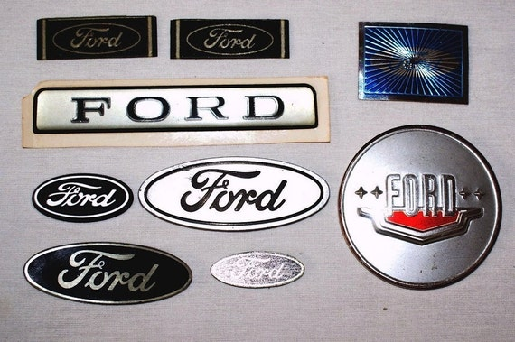 Classic Ford Emblems Decals : Vintage to s ford emblem badges