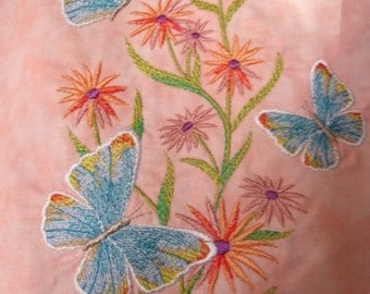 Pastel Watercolor Butterfly Eco Friendly Tote, Bag, Shopping Bag, Purse