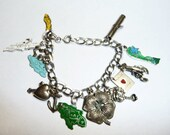 Vintage Sterling Charm Bracelet and 14 Sterling Charms on Etsy
