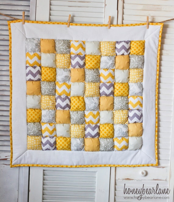 Sale--Sunshine Puff Quilt READY TO SHIP