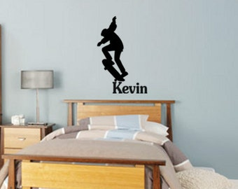 Skateboarder decal-Personalized decal-Skateboarder sticker-Personalized sticker-22 X 34 inches