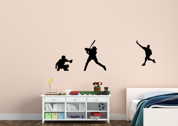 Baseball Decal Sticker Wall Decor Vinyl