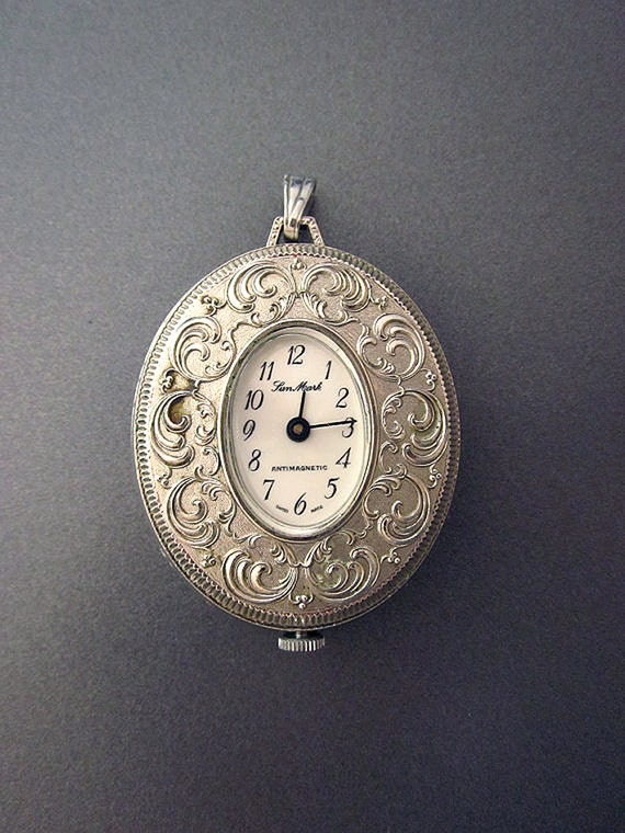 Vintage Pendant Watch Wind Up Anti Magnetic