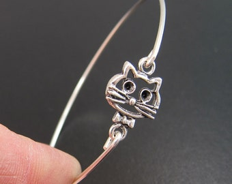 Cheshire Cat Bracelet, Cheshire Cat Jewelry, Cat Bangle Bracelet, Animal Bracelet, Animal Jewelry, Silver Cat Bracelet, Silver Cat Jewelry