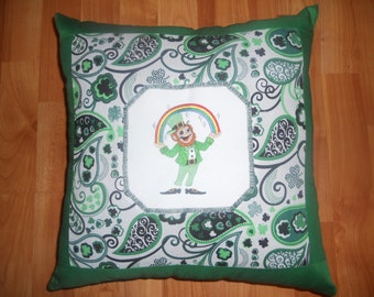 Lovable Leprechaun  -   16 Inch Throw Pillow COVER ONLY