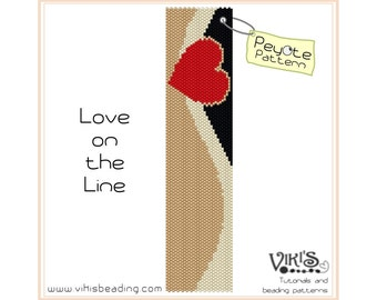 Peyote Beading Pattern: Love on the Line bracelet - INSTANT DOWNLOAD pdf - New coupon codes