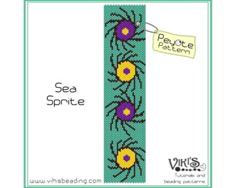 Sea Sprite - Peyote Stitch Bracelet Pattern - INSTANT DOWNLOAD pdf - New coupon codes with coupon code