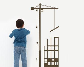 Construction Crane NEW Growth Chart by DECOmodwalls
