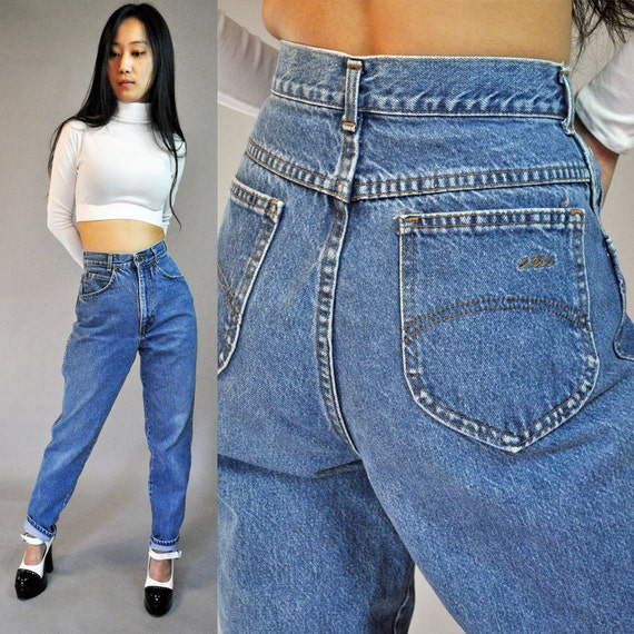 80s vintage denim high waisted womens chic