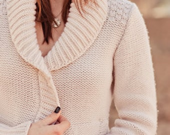Easy Shawl Collar Cardigan Pattern