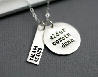 LDS Missionary Necklace -Hand Stamped Necklace - Mormon Elder Sister - LDS Inspired Necklace