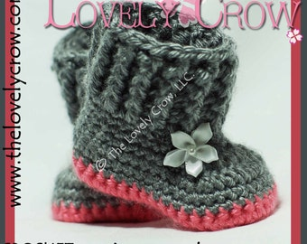 Crochet Pattern Baby Boots BABY SNUGGLY SNUGGS digital