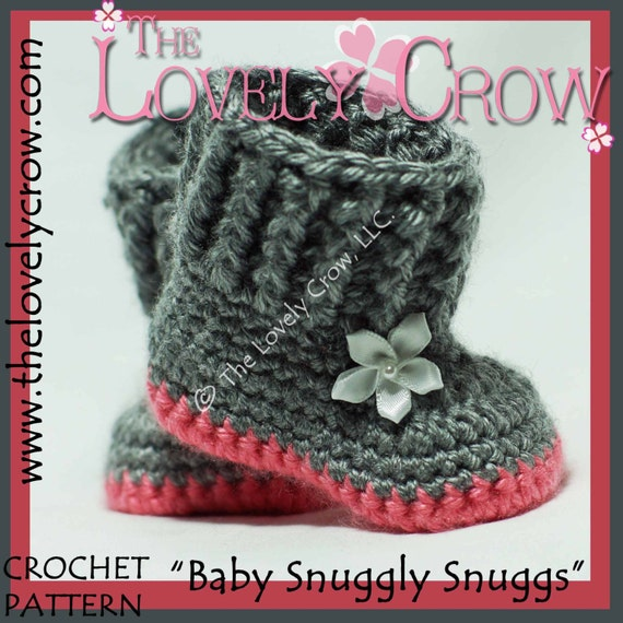 Crochet Free Pattern Promotion Shop For Promotional: Crochet Pattern Baby Boots BABY SNUGGLY SNUGGS Digital