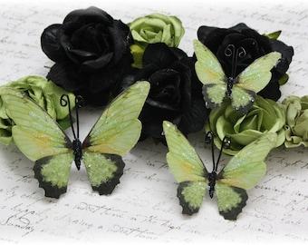 Greenlee Glitter Glass Butterflies for Scrapbooking, Cardmaking, Tag Art, Mixed Media, Wedding