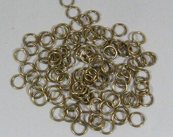 8mm Antique Brass Jump Rings