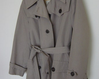 vintage 70s perfect trenchcoat with detachable lining s-m