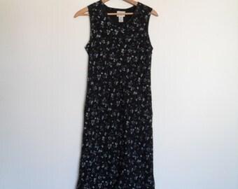 vintage 90s  floral grunge dress m petite