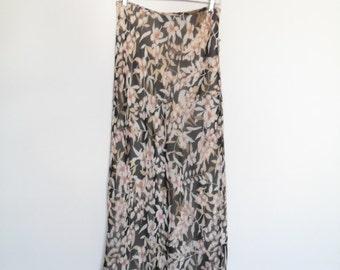 vintage 90s floral maxi skirt m