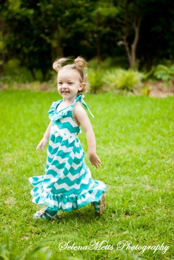 Toddler Chevron Maxi Dress - Gallery Fashion