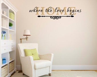 Vinyl Wall Lettering Home Where The Love Begins