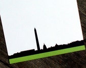 Washington DC Personalized Stationery  - City Skyline Thank You Notes - Capital Building and Washington Monument Flat Cards - Set of 10