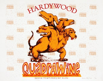 Quadrawine Screenprint