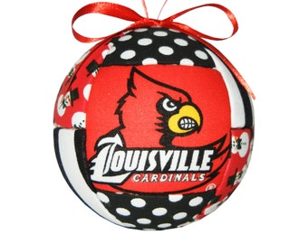 Louisville Kentucky Cardinals Christmas Ornament Handmade Gift Idea Red and Black Tree Decoration Home Decor by CraftCrazy4U