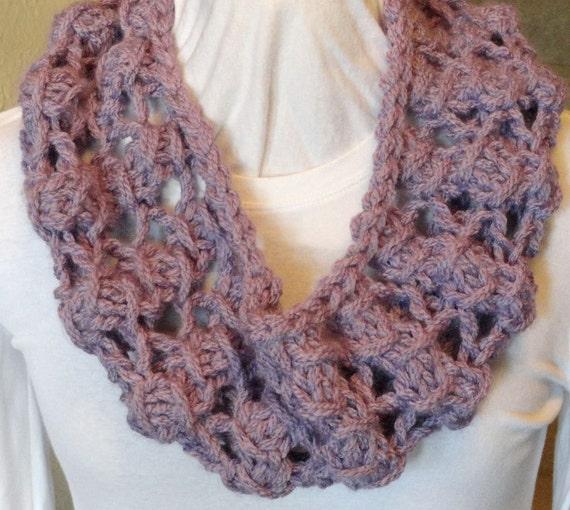 Knitting Cowl With Circular Needles : Knitting pattern diamond lace stitch knitted by