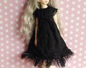 Outfit Dollfie MSD Unoa Volks 43cm doll black dress
