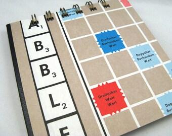German Scrabble board notepad - medium