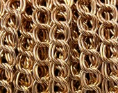 "3 Feet - vintage Brass double Curb unsoldered links 11mm x 7mm or .5"" x .3"""