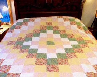 "Quilts from the Heart - Rieanna's ""Sleeping in a Flowerbed"" Quilt"