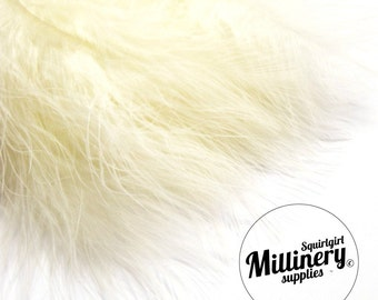 20 Fluffy Marabou Feathers for Millinery Hat Trimming & Crafts - Ivory