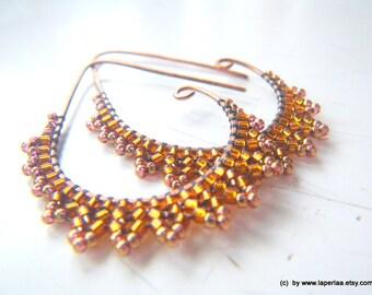ETRUSCAN Filigree Lace - shining bronze Earrings