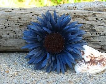 Floral Sunflower Hair Clip-CORNFLOWER-Flower Hair Clips, Rustic Weddings, Country Chic Weddings, Summer Weddings, Country Girls, Photo Prop