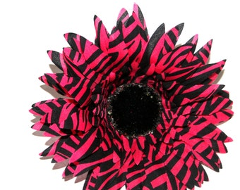 Zebra Daisy - Pink and Black  - Artificial Flowers, Silk Flowers