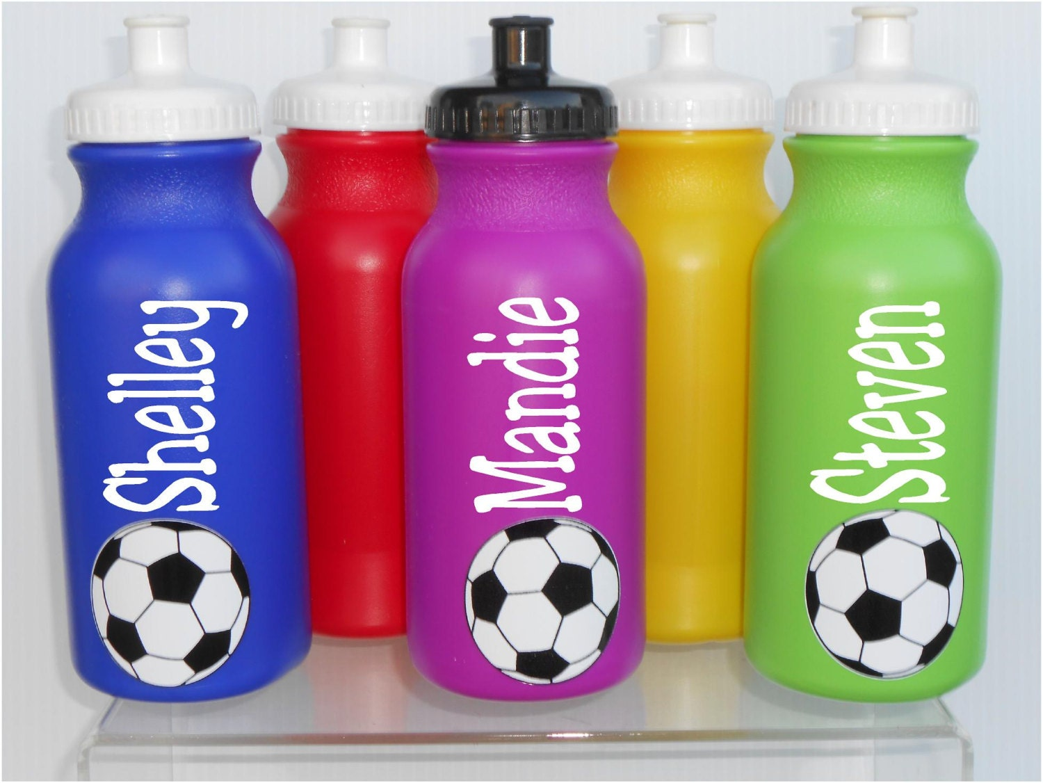 Personalized plastic sports water bottles basketball by for Unique plastic bottles