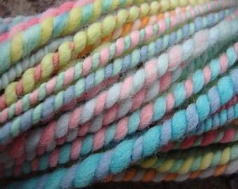 Spring Hatchling Handspun Hand Dyed Merino Wool Yarn