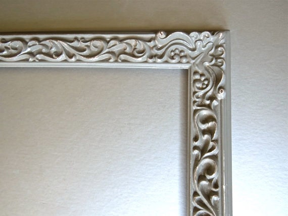 Vintage Gray Frame, Ornate Frame, Shabby and Chic, Cottage Chic, Paris Apartment, French Country, French Linen