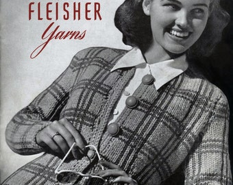 Fleisher's (63) c.1940 - America's Knitting - Exciting Vintage Stye Hand Knitting Patterns for Town & Country