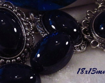 18x13mm - Midnight Blue - Acrylic Cabochon - 5 pcs : sku 03.10.13.2 - F16